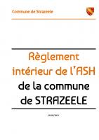 Règlement intérieur de l'ASH STRAZEELE 2021