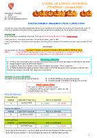 ALSH Octobre 2021 – Fonctionnement-réglementation-tarification